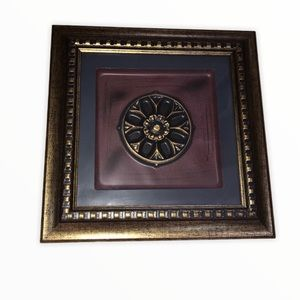 Framed Artwork measures 12 inches x 12 inches
